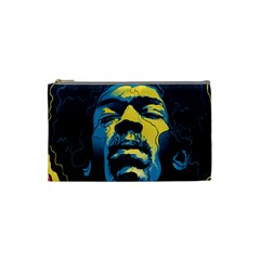 Gabz Jimi Hendrix Voodoo Child Poster Release From Dark Hall Mansion Cosmetic Bag (small)