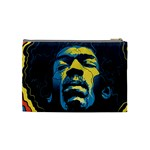 Gabz Jimi Hendrix Voodoo Child Poster Release From Dark Hall Mansion Cosmetic Bag (Medium)  Back