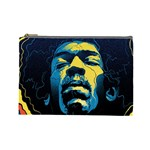 Gabz Jimi Hendrix Voodoo Child Poster Release From Dark Hall Mansion Cosmetic Bag (Large)  Front
