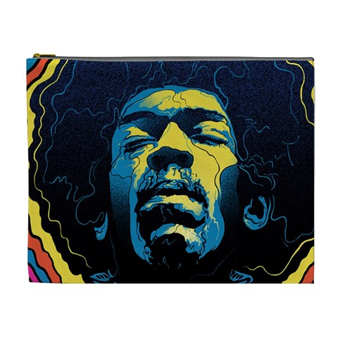 Gabz Jimi Hendrix Voodoo Child Poster Release From Dark Hall Mansion Cosmetic Bag (XL)