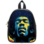 Gabz Jimi Hendrix Voodoo Child Poster Release From Dark Hall Mansion School Bags (Small)  Front