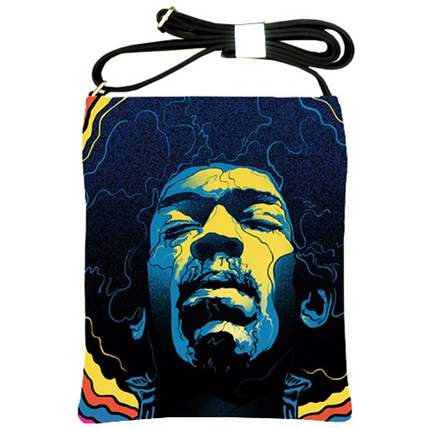 Gabz Jimi Hendrix Voodoo Child Poster Release From Dark Hall Mansion Shoulder Sling Bags