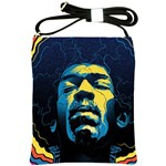 Gabz Jimi Hendrix Voodoo Child Poster Release From Dark Hall Mansion Shoulder Sling Bags Front
