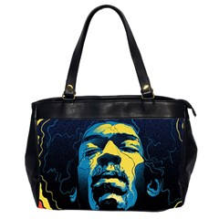 Gabz Jimi Hendrix Voodoo Child Poster Release From Dark Hall Mansion Office Handbags (2 Sides)