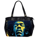 Gabz Jimi Hendrix Voodoo Child Poster Release From Dark Hall Mansion Office Handbags (2 Sides)  Front