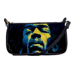 Gabz Jimi Hendrix Voodoo Child Poster Release From Dark Hall Mansion Shoulder Clutch Bags