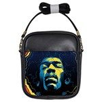 Gabz Jimi Hendrix Voodoo Child Poster Release From Dark Hall Mansion Girls Sling Bags Front