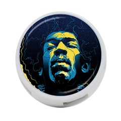 Gabz Jimi Hendrix Voodoo Child Poster Release From Dark Hall Mansion 4-Port USB Hub (One Side)