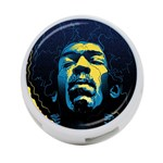 Gabz Jimi Hendrix Voodoo Child Poster Release From Dark Hall Mansion 4-Port USB Hub (Two Sides)  Back