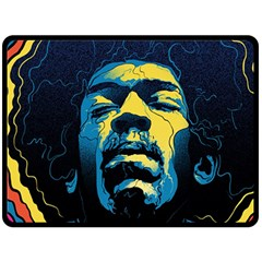 Gabz Jimi Hendrix Voodoo Child Poster Release From Dark Hall Mansion Fleece Blanket (Large)
