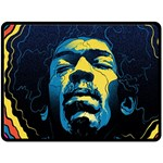 Gabz Jimi Hendrix Voodoo Child Poster Release From Dark Hall Mansion Fleece Blanket (Large)  80 x60 Blanket Front