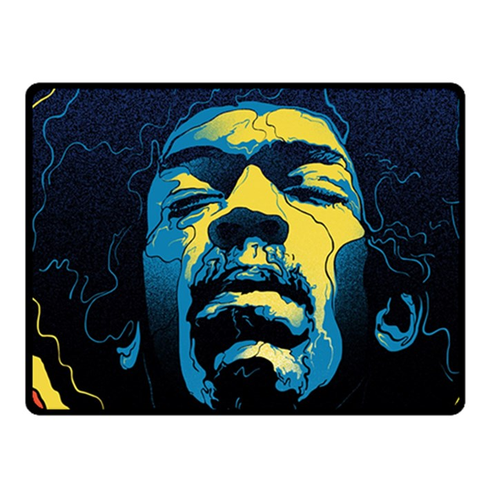 Gabz Jimi Hendrix Voodoo Child Poster Release From Dark Hall Mansion Fleece Blanket (Small)