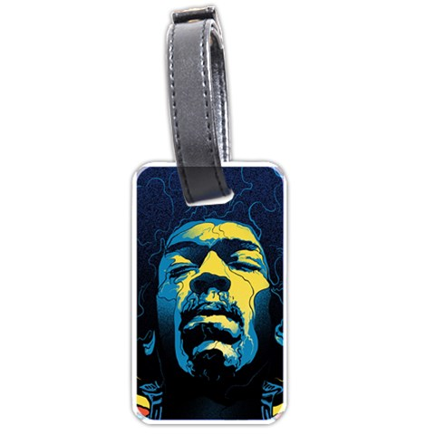 Gabz Jimi Hendrix Voodoo Child Poster Release From Dark Hall Mansion Luggage Tags (Two Sides)