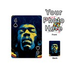 Gabz Jimi Hendrix Voodoo Child Poster Release From Dark Hall Mansion Playing Cards 54 (Mini)  Front - Spade4