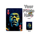 Gabz Jimi Hendrix Voodoo Child Poster Release From Dark Hall Mansion Playing Cards 54 (Mini)  Front - Heart9
