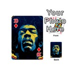 Gabz Jimi Hendrix Voodoo Child Poster Release From Dark Hall Mansion Playing Cards 54 (Mini)  Front - Diamond10