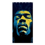 Gabz Jimi Hendrix Voodoo Child Poster Release From Dark Hall Mansion Shower Curtain 36  x 72  (Stall)  36 x72 Curtain