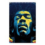 Gabz Jimi Hendrix Voodoo Child Poster Release From Dark Hall Mansion Shower Curtain 48  x 72  (Small)  42.18 x64.8 Curtain