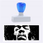 Gabz Jimi Hendrix Voodoo Child Poster Release From Dark Hall Mansion Rubber Stamps (Large) 2.26 x1.05  Stamp