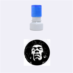 Gabz Jimi Hendrix Voodoo Child Poster Release From Dark Hall Mansion Rubber Round Stamps (small)