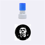 Gabz Jimi Hendrix Voodoo Child Poster Release From Dark Hall Mansion Rubber Round Stamps (Small) 1.12 x1.12  Stamp