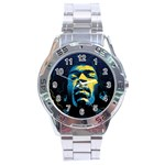 Gabz Jimi Hendrix Voodoo Child Poster Release From Dark Hall Mansion Stainless Steel Analogue Watch Front