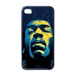 Gabz Jimi Hendrix Voodoo Child Poster Release From Dark Hall Mansion Apple iPhone 4 Case (Black) Front