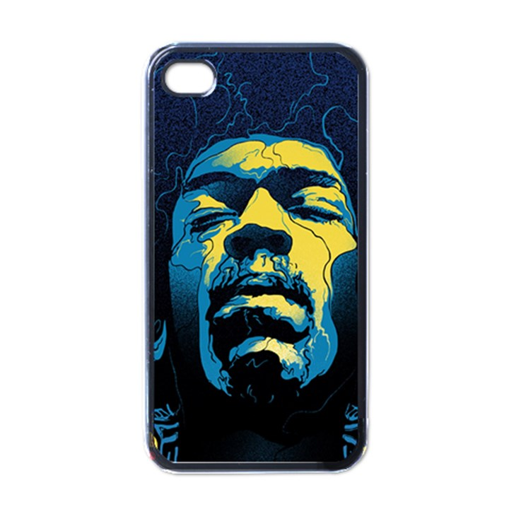 Gabz Jimi Hendrix Voodoo Child Poster Release From Dark Hall Mansion Apple iPhone 4 Case (Black)