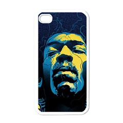 Gabz Jimi Hendrix Voodoo Child Poster Release From Dark Hall Mansion Apple Iphone 4 Case (white)