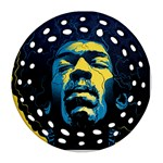 Gabz Jimi Hendrix Voodoo Child Poster Release From Dark Hall Mansion Ornament (Round Filigree)  Front