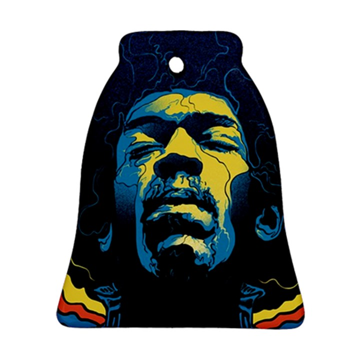 Gabz Jimi Hendrix Voodoo Child Poster Release From Dark Hall Mansion Bell Ornament (2 Sides)