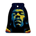 Gabz Jimi Hendrix Voodoo Child Poster Release From Dark Hall Mansion Bell Ornament (2 Sides) Back