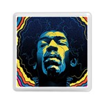 Gabz Jimi Hendrix Voodoo Child Poster Release From Dark Hall Mansion Memory Card Reader (Square)  Front