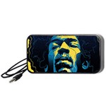 Gabz Jimi Hendrix Voodoo Child Poster Release From Dark Hall Mansion Portable Speaker (Black)  Front