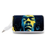 Gabz Jimi Hendrix Voodoo Child Poster Release From Dark Hall Mansion Portable Speaker (White)  Front