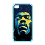 Gabz Jimi Hendrix Voodoo Child Poster Release From Dark Hall Mansion Apple iPhone 4 Case (Color) Front