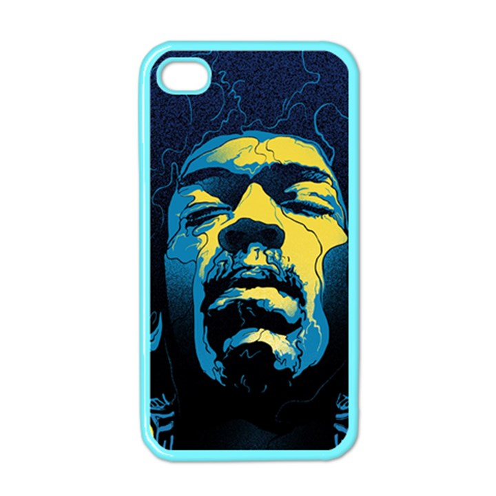 Gabz Jimi Hendrix Voodoo Child Poster Release From Dark Hall Mansion Apple iPhone 4 Case (Color)