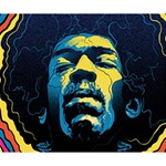 Gabz Jimi Hendrix Voodoo Child Poster Release From Dark Hall Mansion Deluxe Canvas 14  x 11  14  x 11  x 1.5  Stretched Canvas