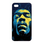 Gabz Jimi Hendrix Voodoo Child Poster Release From Dark Hall Mansion Apple iPhone 4/4s Seamless Case (Black) Front