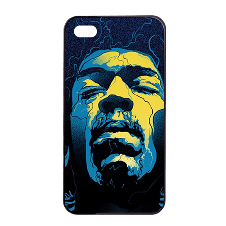 Gabz Jimi Hendrix Voodoo Child Poster Release From Dark Hall Mansion Apple iPhone 4/4s Seamless Case (Black)