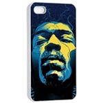 Gabz Jimi Hendrix Voodoo Child Poster Release From Dark Hall Mansion Apple iPhone 4/4s Seamless Case (White) Front