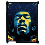 Gabz Jimi Hendrix Voodoo Child Poster Release From Dark Hall Mansion Apple iPad 2 Case (Black) Front