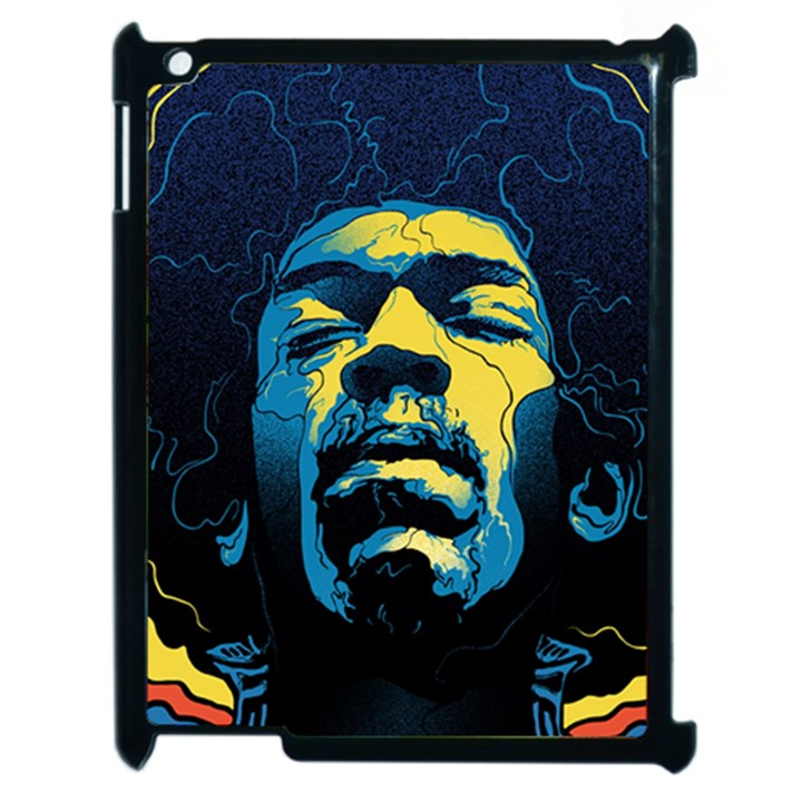 Gabz Jimi Hendrix Voodoo Child Poster Release From Dark Hall Mansion Apple iPad 2 Case (Black)