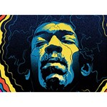 Gabz Jimi Hendrix Voodoo Child Poster Release From Dark Hall Mansion BOY 3D Greeting Card (7x5) Back