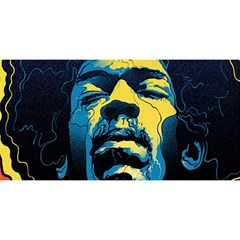 Gabz Jimi Hendrix Voodoo Child Poster Release From Dark Hall Mansion You Are Invited 3d Greeting Card (8x4)