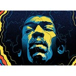 Gabz Jimi Hendrix Voodoo Child Poster Release From Dark Hall Mansion Circle Bottom 3D Greeting Card (7x5) Back