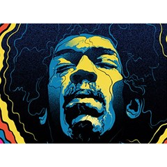 Gabz Jimi Hendrix Voodoo Child Poster Release From Dark Hall Mansion Birthday Cake 3D Greeting Card (7x5)