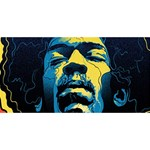 Gabz Jimi Hendrix Voodoo Child Poster Release From Dark Hall Mansion Laugh Live Love 3D Greeting Card (8x4) Front