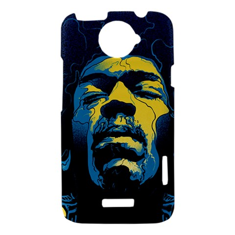 Gabz Jimi Hendrix Voodoo Child Poster Release From Dark Hall Mansion HTC One X Hardshell Case