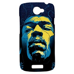 Gabz Jimi Hendrix Voodoo Child Poster Release From Dark Hall Mansion HTC One S Hardshell Case